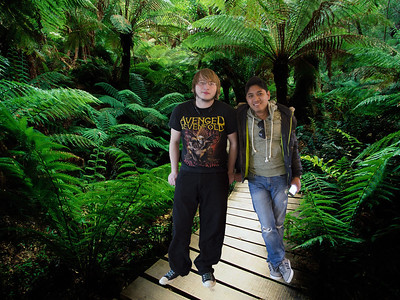 PCHY AND NATHAN IN FOREST